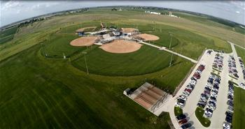 Pella Sports Park Fields Aerial