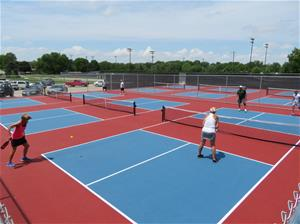 pickleball courts at caldwell park