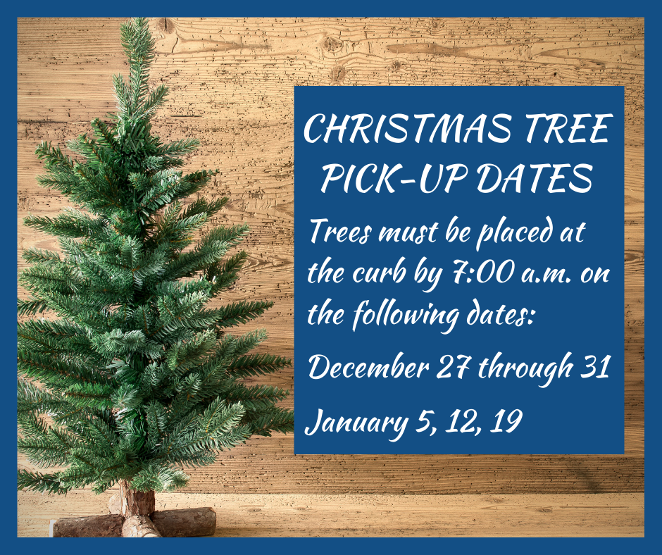 2020 Christmas Tree Pick-up Dates