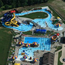 Aerial view of Pella Aquatic Center